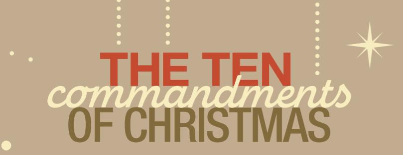 The 10 Commandments Of Christmas Kc Parent Magazine