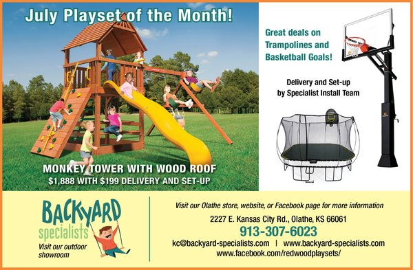 July Playset Specials