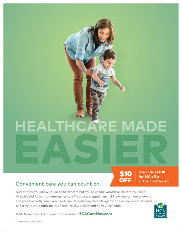 $10 off Virtual Health Visit with HCA