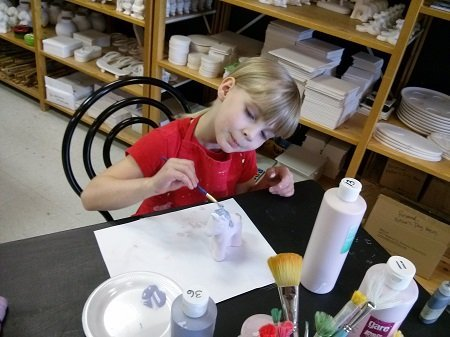 Paint-your-own-Pottery outing to Paint, Glaze & Fire.