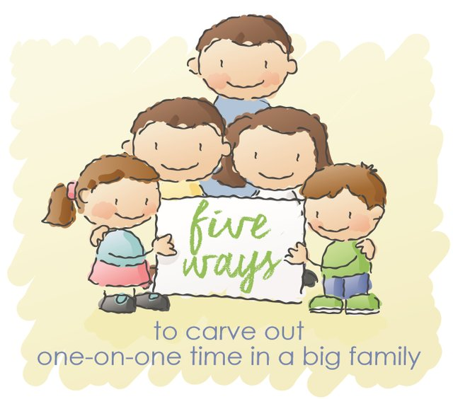 Five Ways to Carve Out One-on-One Time in a Big Family - KC